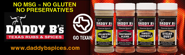 Daddy B's Texas BBQ Spices - Made in Texas - No MSG's - No Gluten - No Preservatives - No Artificial Coloring - Just Pure Flavor for Everything you Eat
