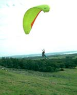 Hang glide from Packsaddle Mountain